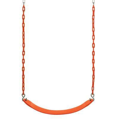 Swingan -Belt Swing For All Ages -Vinyl Coated Chain in Orange