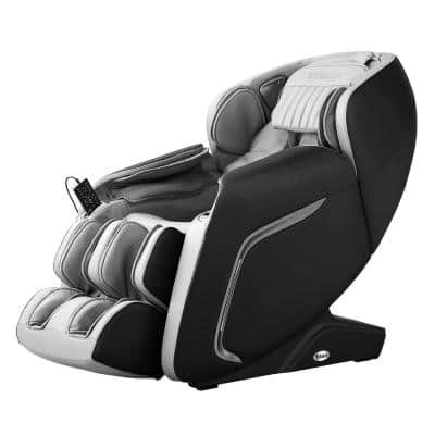Cosmo Black Faux Leather Reclining Massage Chair with Voice Recognition and BlueTooth Speakers
