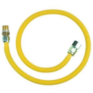 Safety+PLUS 3/4 in. MIP Excess Flow Valve x 3/4 in. FIP x 48 in. Stainless Steel Gas Connector 5/8 in. (106,000 BTU)