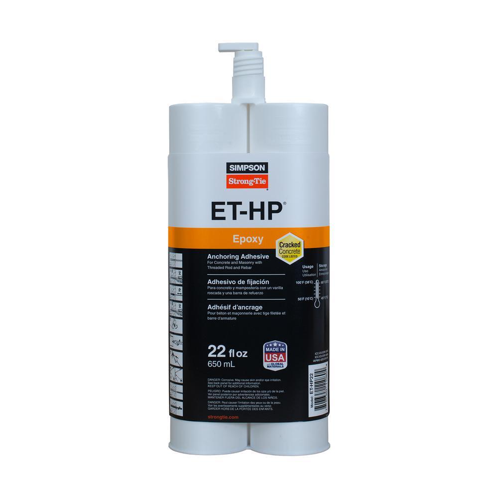 ET-HP 22 oz. Epoxy Adhesive Cartridge with Nozzle