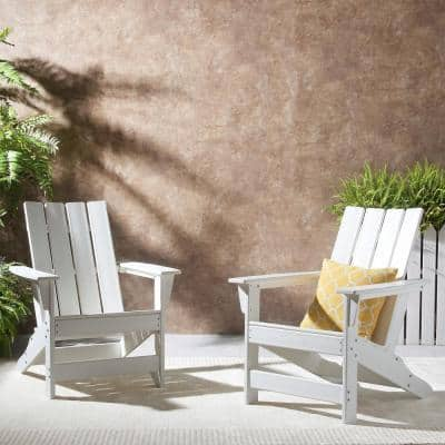 Encino White Wood Adirondack Chair (2-Pack)