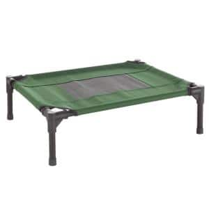Small Green Elevated Pet Bed