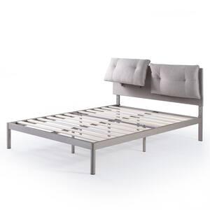 Avery Beige Queen Platform Bed with Reclining Headboard