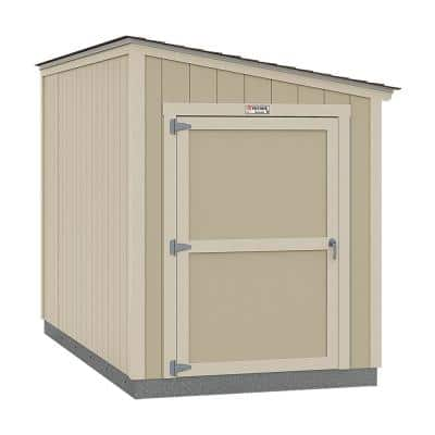 Installed The Tahoe Series Lean-To 6 ft. x 12 ft. x 8 ft. 3 in. Un-Painted Wood Storage Building Shed