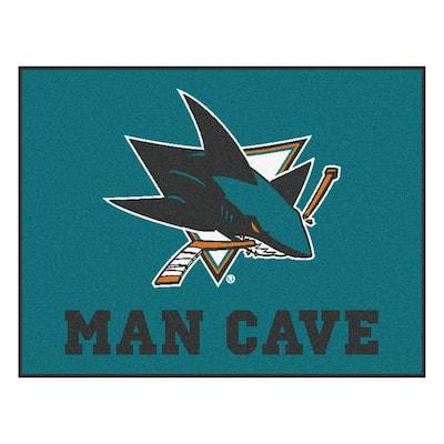 San Jose Sharks Teal Man Cave 3 ft. x 4 ft. Area Rug