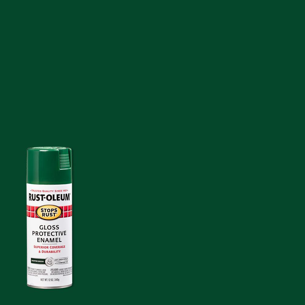 12 oz. Protective Enamel Gloss Hunter Green Spray Paint