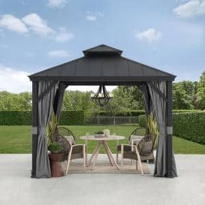 SummerCove Merston 10 ft. x 10 ft. Gazebo with 2-tier Hardtop Roof
