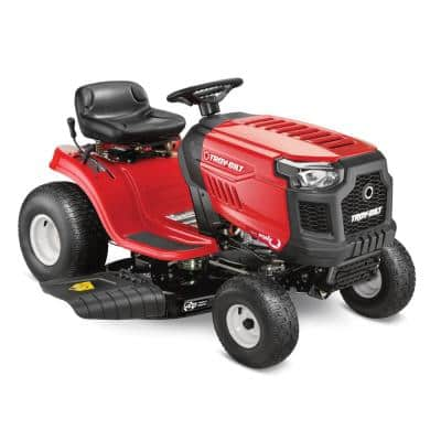 Pony 42 in. 15.5 HP Briggs and Stratton Engine 7 Speed Manual Drive Gas Riding Lawn Tractor (CA Compliant)