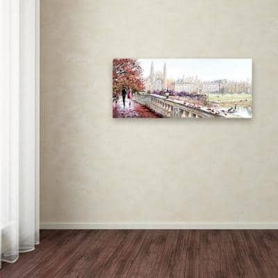 """20 in. x 47 in. """"Clare Bridge"""" by The Macneil Studio Printed Canvas Wall Art"""