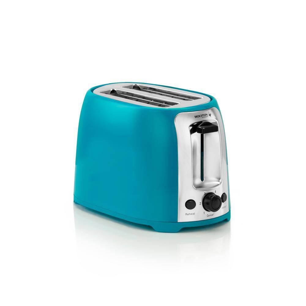 Holstein Housewares 800 Watt Teal 2 Slice Toaster Hh 09175001e The Home Depot