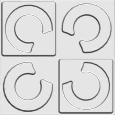 19.6 in. x 19.6 in. x 1 in. Off-White Plant Fiber Horseshoe Design Glue-On Wainscot Wall Panels (10-Pack)