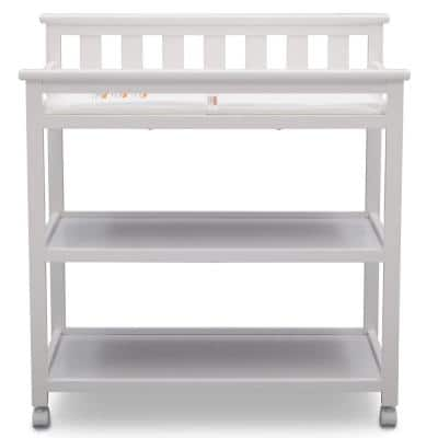 Flat Top Bianca White Changing Table with Wheels