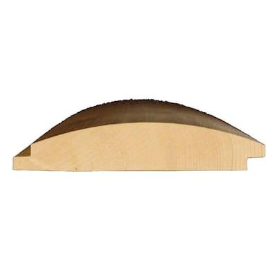 2 in. x 8 in. x 8 ft. #2 Pine Pattern Stock Log Cabin Siding Board