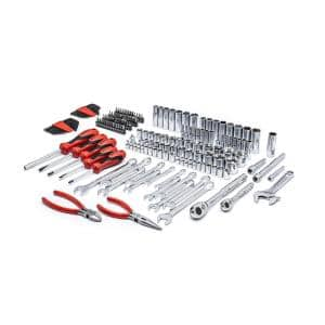1/4 in. and 3/8 in. Drive 6 Point SAE/Metric Professional Tool Set (180-Pieces)