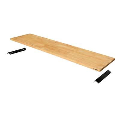 72 in. Solid Wood Work Surface for Regular Duty Welded Steel Garage Storage System