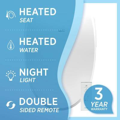 Premier Class Electric Bidet Seat for Elongated Toilets in White