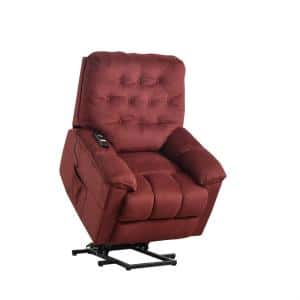 Red Power Lift with Remote Soft Upholstery Recliner Sofa Chair