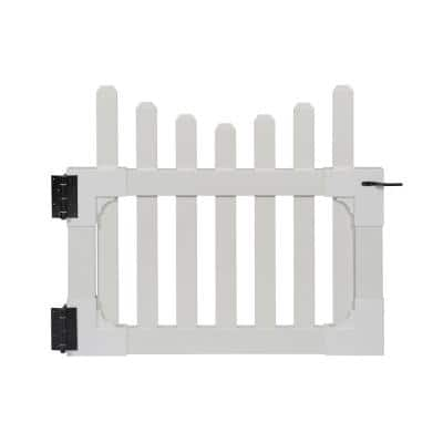3.5 ft. W x 3 ft. H All American Vinyl Picket Fence Gate with Stainless Steel Hardware
