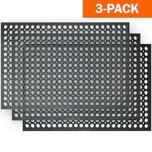 Indoor/Outdoor Durable Anti-Fatigue 24 in. x 36 in. Industrial Commercial Home Restaurant Bar Rubber Floor Mat (3-Piece)