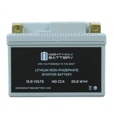 12-Volt 140 CCA Lithium Rechargeable Power Sports Battery
