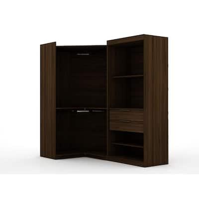 Ramsey Brown Open 2-Sectional Corner Closet (Set of 2)