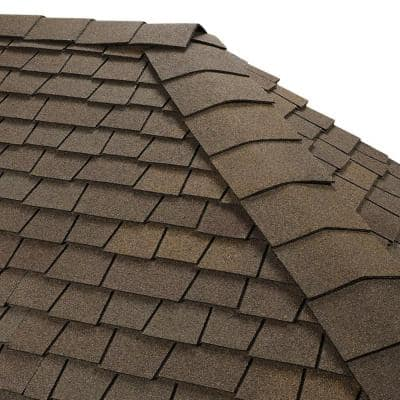 Timbertex Stone Wood Double-Layer Hip and Ridge Cap Roofing Shingles (20 lin. ft. per Bundle) (30-pieces)