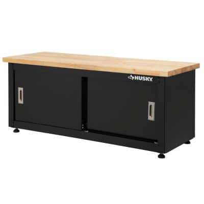 Ready-to-Assemble Steel Storage Bench in Black (48 in. W x 20 in. H x 18 in. D)