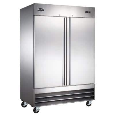 54 in. W 47 cu. ft. Two Door Commercial Reach In Upright Refrigerator in Stainless Steel