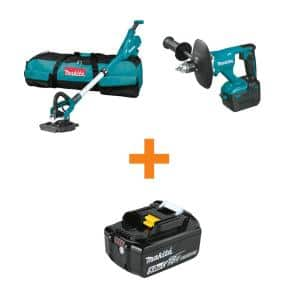 18V LXT Lithium-Ion Brushless Cordless Drywall Sander and 18V LXT Brushless 1/2in Mixer with bonus 18V LXT 5.0Ah Battery