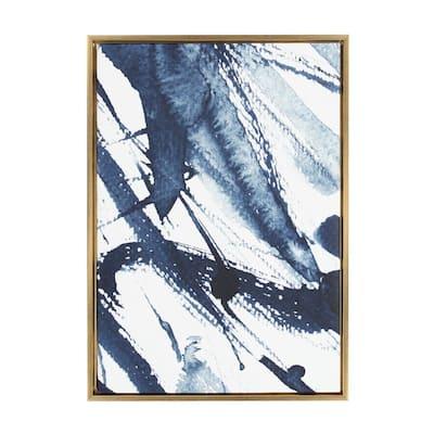"Sylvie ""Indigo Watercolor"" by Amy Peterson Framed Canvas Wall Art"