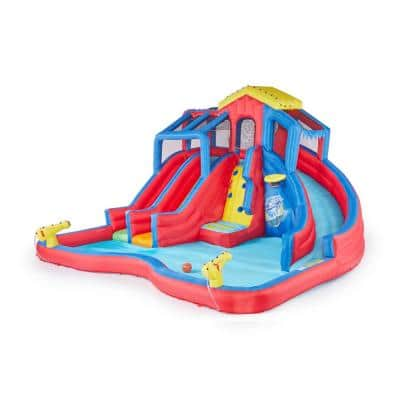 Hydro Blast Inflatable Play Water Park with Slides and Water Cannons