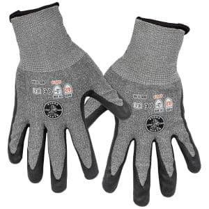 Work Gloves, Cut Level 2, Touchscreen, X-Large, 2-Pair