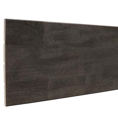 7/6 in. x 5-1/2 in. x 96 in. Prestained Black Wood Base Moulding