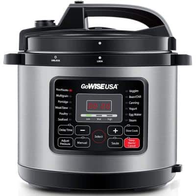 12.5 Qt. Stainless Steel Electric Pressure with Ceramic Pot
