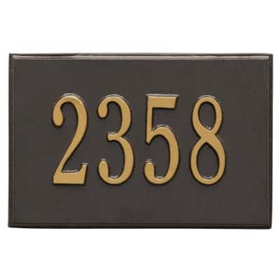 Wall Mailbox Plaque in Bronze/Gold