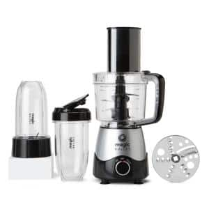 Kitchen Express 16 oz. Single Speed Silver Blender with 3.5 Cup Work Bowl and Lid