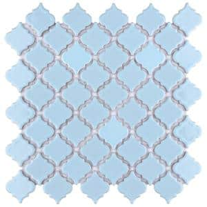Hudson Tangier Cashmere Blue 12 in. x 12 in. Porcelain Mosaic Tile (10.96 sq. ft. / Case)