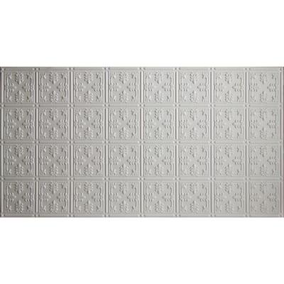 2 ft. x 4 ft. Glue Up Tin Ceiling Tile in White