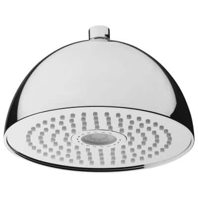 Light Round 1-Pattern 2.5 GPM 7.87 in. Ceiling Mount Rain Shower Head with Rainbow LED Light in Chrome