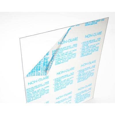 8 in. x 10 in. x 0.050 in. Clear Non-Glare Acrylic Sheet