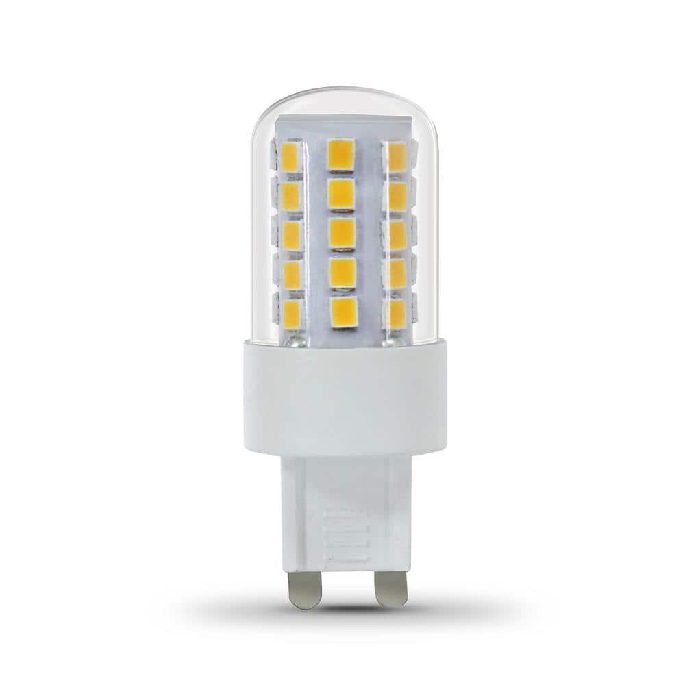 Feit Electric 12 Watt Equivalent T12 Dimmable G12 Bi Pin LED Light Bulb, Warm  White 12K BPG1212/12/LED   The Home Depot