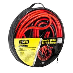 16 ft. 6-Gauge Heavy-Duty Battery Booster Jumper Cables