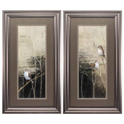 """27 in. x 15 in. """" Sparrows Dusk PK/2"""" Framed Wall Art"""