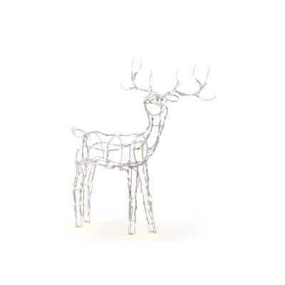 52 in. LED 120-Light Wire Reindeer Outdoor Christmas Decor