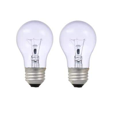 40-Watt A15 Clarity Incandescent Light Bulb (2-Pack)