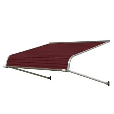 6 ft. 1100 Series Door Canopy Aluminum Awning (12 in. H x 42 in. D) in Burgundy