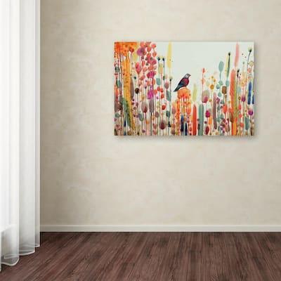 "30 in. x 47 in. ""Joie De Vivre"" by Sylvie Demers Printed Canvas Wall Art"