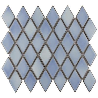 Hudson Kite Frost Blue 10-1/4 in. x 11-3/4 in. Porcelain Mosaic Tile (8.56 sq. ft./Case)