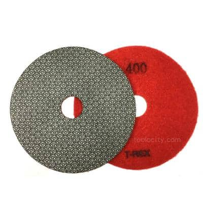 7 in. 400-Grit Electroplated Diamond Polishing Pads