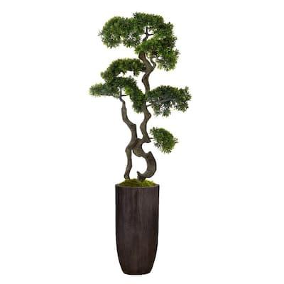 59.25 in. Bonsai Tree in Resin Planter